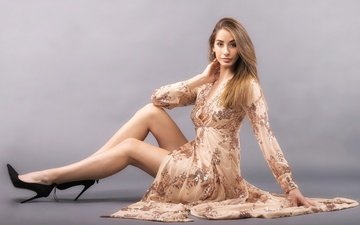 background, dress, look, model, legs, hair, face, brenda