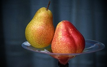 фрукты, ваза, груши