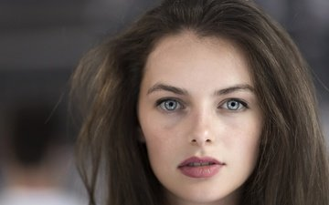 глаза, девушка, портрет, взгляд, модель, губы, лицо