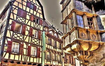 город, дома, здания, окна, германия