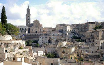 город, италия, здания, городской пейзаж, матера, базиликата
