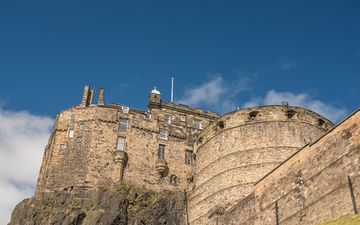 the sky, castle, wall, architecture, the building, europe, fortress, scotland, edinburgh, edinburgh castle