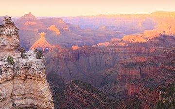 горы, природа, скала, панорама, сша, гранд-каньон парк