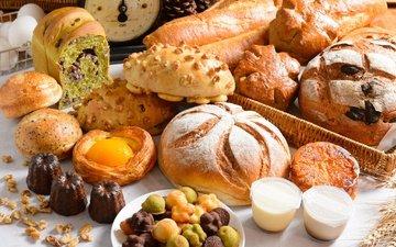 хлеб, выпечка, сдоба, ассорти