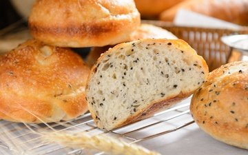 хлеб, выпечка, сдоба, кунжут