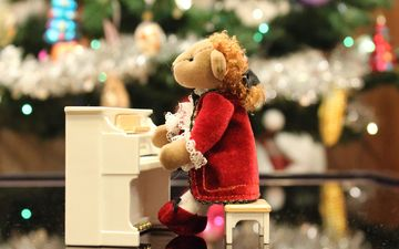 music, toy, piano, mozart