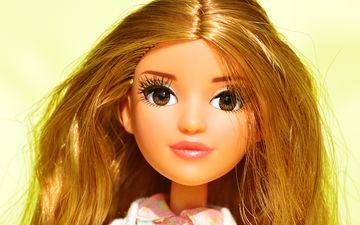 глаза, портрет, взгляд, игрушка, кукла, лицо