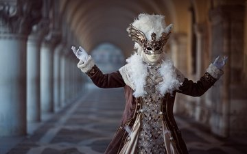 маска, костюм, карнавал