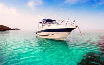 sea, yacht, island