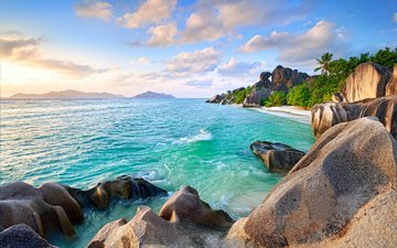 sea, beach, islands, tropics, seychelles