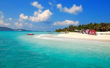 море, пляж, острова, тропики