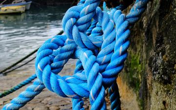 sea, rope, blue, boat, marine, fishermen, dock, marshland, anchor, connection, strength