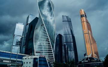 the sky, clouds, moscow, the city, russia, architecture, skyscraper