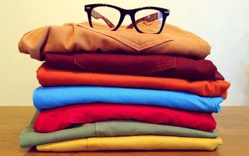 вещи, одежда, текстиль, стопка