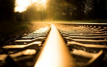 light, railroad, rails, background