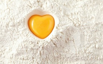 texture, background, heart, egg, flour, the yolk