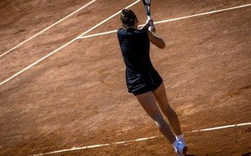 теннис, ракетка, спортивная форма, теннисистка, корт