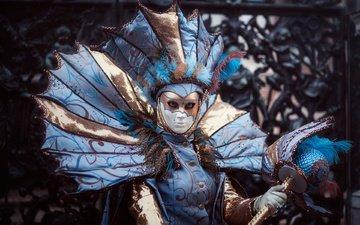 девушка, венеция, модель, костюм, карнавал