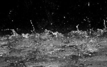 вода, капли, чёрно-белое, брызги, всплеск, жидкость, выплеск
