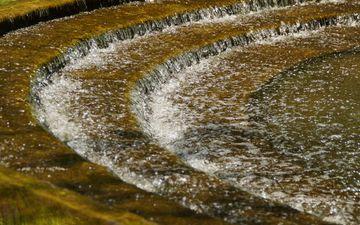 вода, лестница, ступеньки, парк, пруд, аналгетик