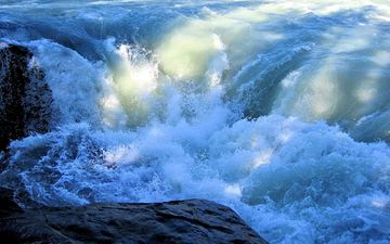 вода, природа, берег, море, волна, брызги, океан, канада, альберта