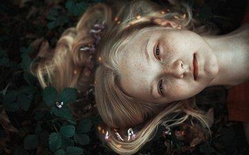 лес, портрет, волосы, локоны, веснушки, вика, кристина маховицкая