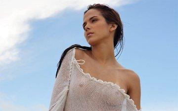 взгляд, красота, модель, сексуальная, бразильская