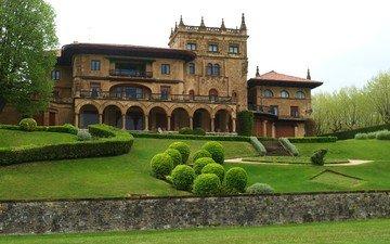park, architecture, palace, spain, palacio lezama leguizamon
