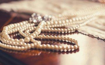 украшение, ожерелье, жемчуг, жемчужное ожерелье
