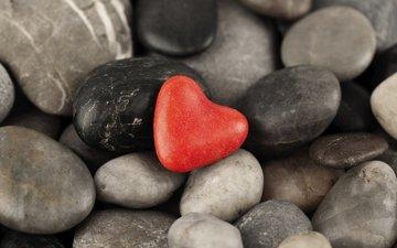камни, галька, сердечко, форма, сердце