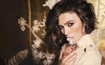 girl, look, hair, face, advertising, keira knightley, perfume