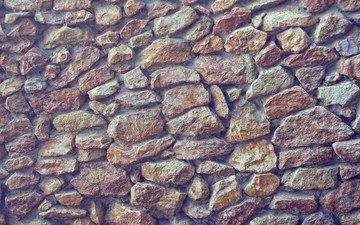 stones, texture, design, wall, stone, material, cobblestone