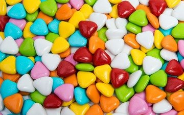 colorful, candy, hearts, sweet, dessert, lollipops, pills