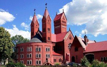 город, минск, белоруссия, костёл святого симеона и святой елены