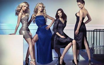 dress, girls, model, photoshoot