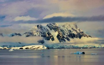 water, mountains, nature, reflection, ice, antarctica