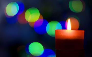 light, flame, romance, candle, lighting, bokeh