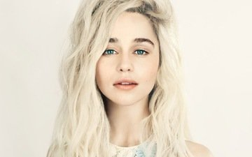 blonde, actress, green eyes, emilia clarke