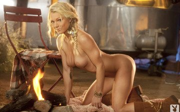 blonde, naked, boots