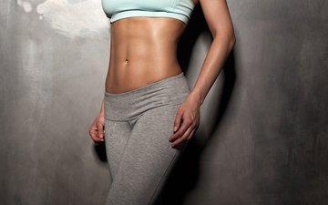 girl, background, pose, legs, figure, sports wear