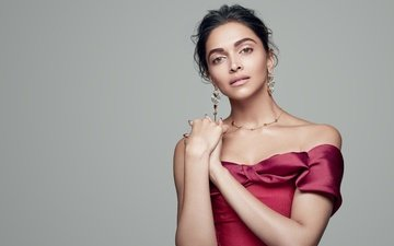 decoration, girl, look, hair, face, celebrity, bollywood, bare shoulders, deepika padukone
