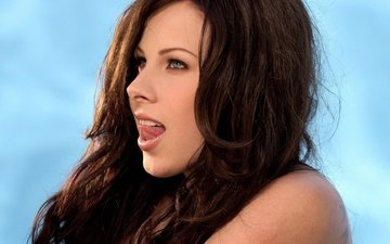 girl, look, hair, lips, face, language, pornstar, gianna michaels