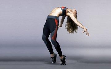 девушка, поза, модель, фитнес, спортивная одежда, йога, тренировки