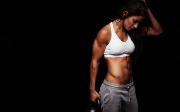 girl, background, athlete, fitness, bodybuilder, topic