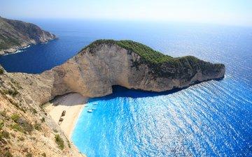 скалы, море, пляж, греция, бухта, 18