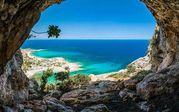 скалы, море, пещера