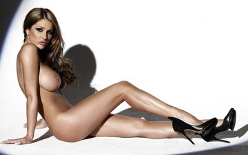 girl, look, chest, legs, hair, face, shoes, lucy pinder, high heels