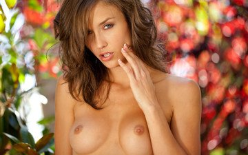 girl, look, model, chest, hair, face, malena morgan