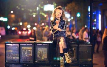 стиль, девушка, город, взгляд, волосы, лицо, боке, julia altork, шкафчики, раздел стиль
