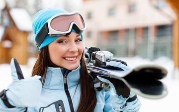 природа, зима, улыбка, спорт, лыжи, спортсменка, тренировка, snezhanna strizhak, снежанна стрижак